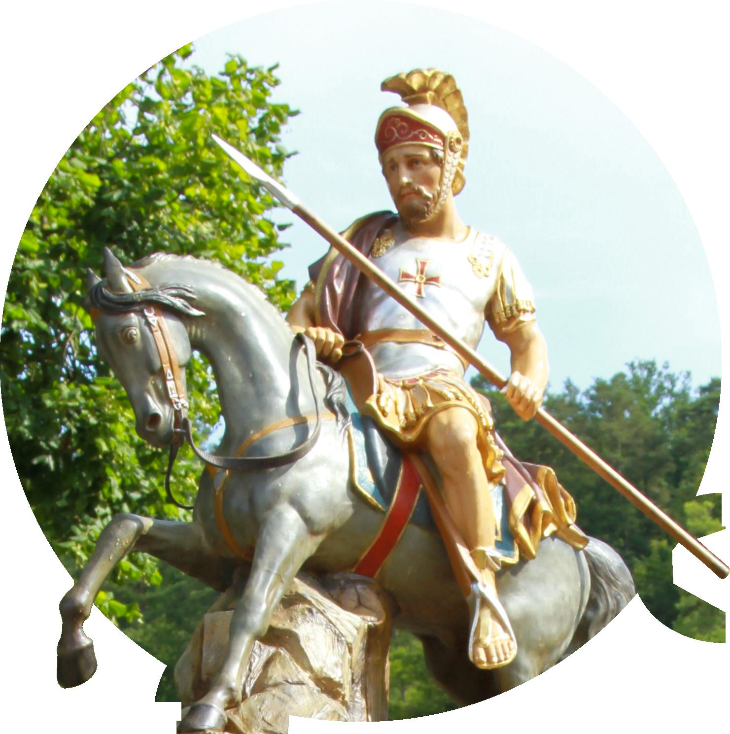 Saint-Victor sur son cheval