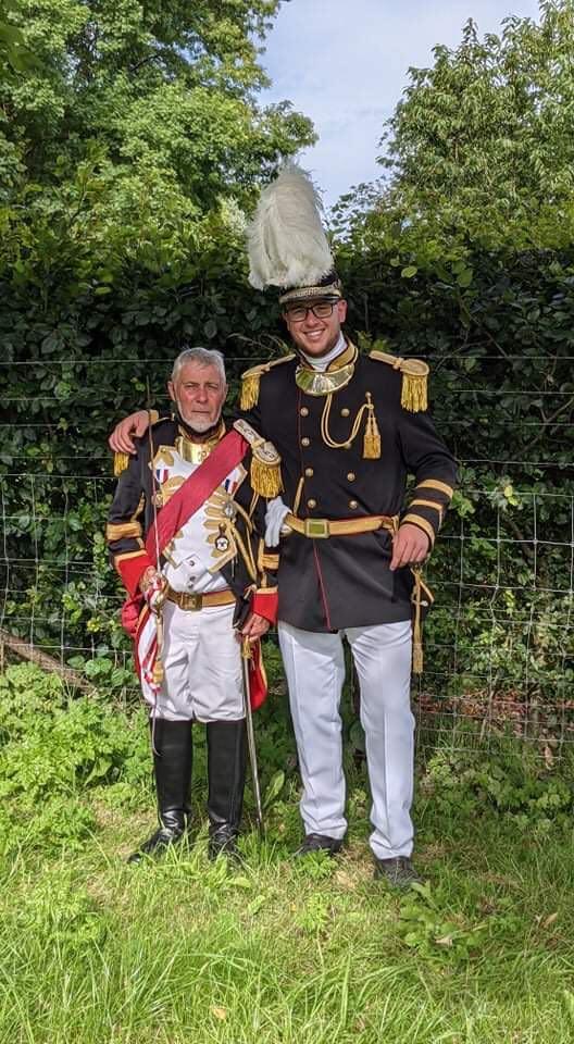 Corentin BINON (officier tromblons) et Jacques MEYAN (adjudant de compagnie)